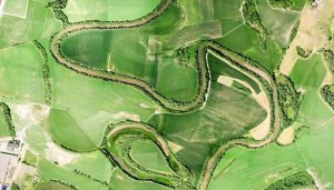 Satellite image of surface waters located in a typical EU agricultural landscape (Copyright Google, Digital Globe, 2014)