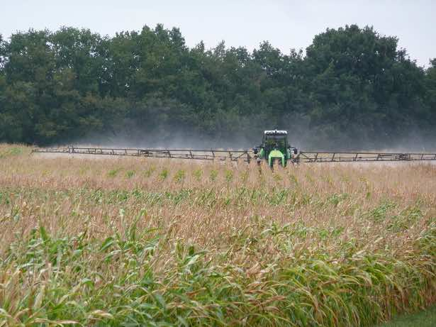 Pesticide application in agricultural landscapes (photo by C. Brühl)